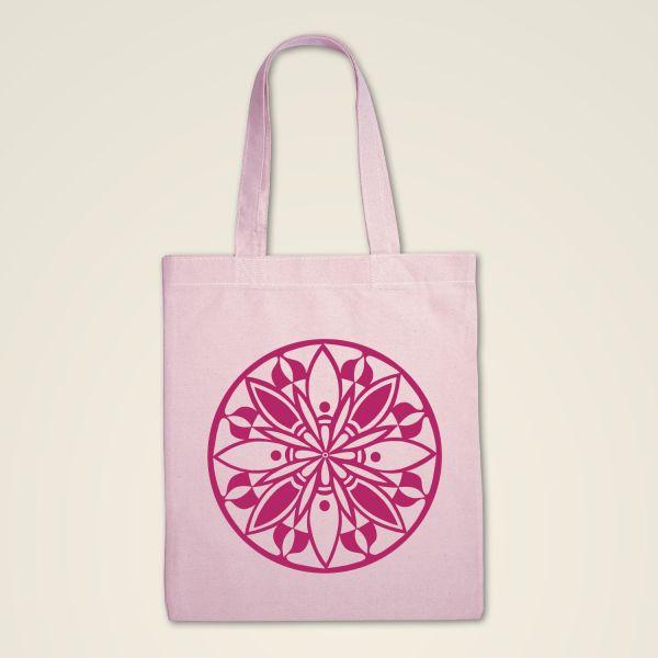 Mandala Stofftasche rosa bedruckt rosa
