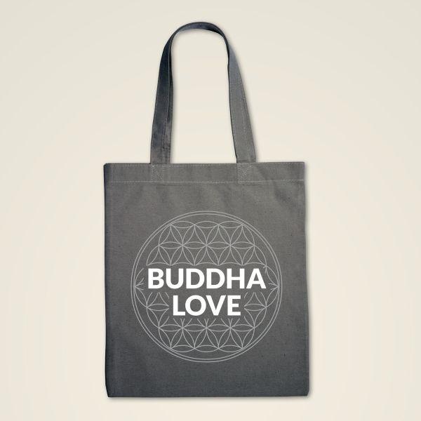 Buddha Love Blume des Lebens Stofftasche bdruckt grau