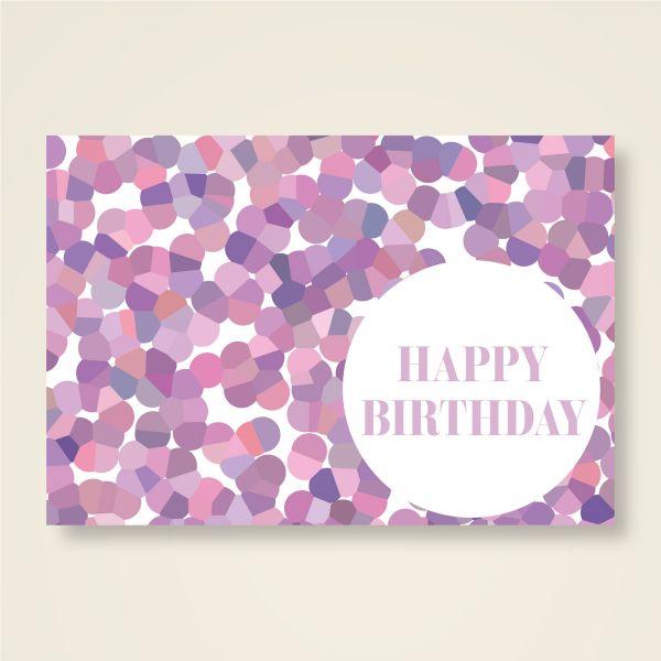 Grusskarten Set 'Happy Birthday'