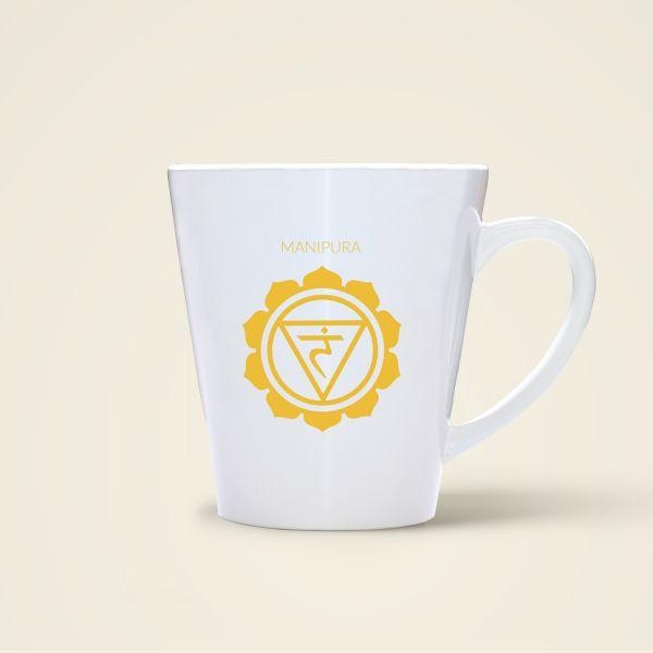 Chakren Motiv Manipura auf Tasse gedruckt Geist und Geschenk Shop