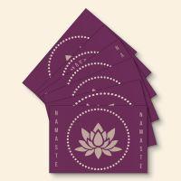 Grußkartenset bedruckt 'Namaste-Mix' Geist und Geschenk