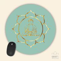 Bedrucktes Mousepad Buddha Gold Geist und Geschenk eckige Form