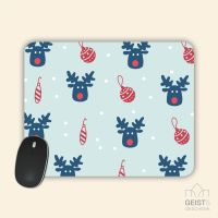 Mousepad bedruckt Rudolph Geist und Geschenk