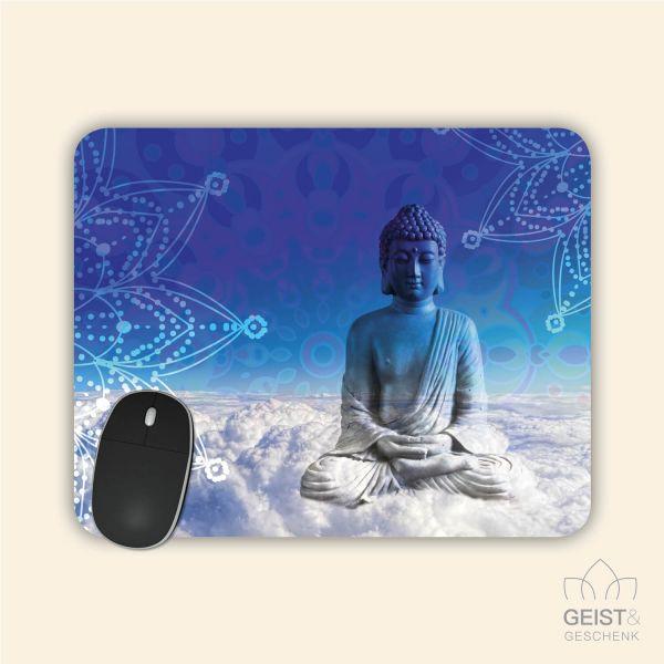 Bedrucktes Mousepad Buddha Mandala Heaven Geist und Geschenk eckige Form