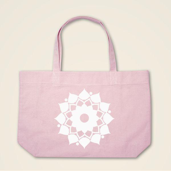 Boatshape Stofftasche rosa 'Mandalablume'