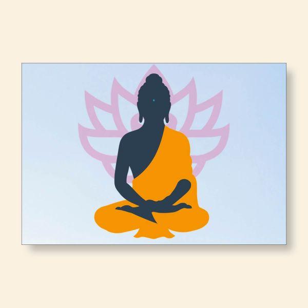 Grußkartenset bedruckt Yoga Lotus Geist und Geschenk