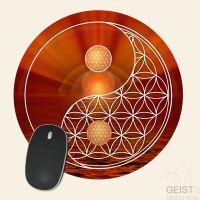 Mousepad-Blume-des-Lebens-Motiv-YinYang-Ruhe-bedruckt-1