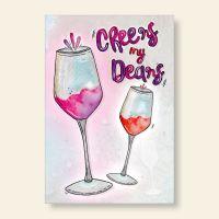 Grußkarten- Set  'Cheers my Dears'