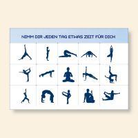 Grußkartenset bedruckt Yoga Übungen Geist und Geschenk