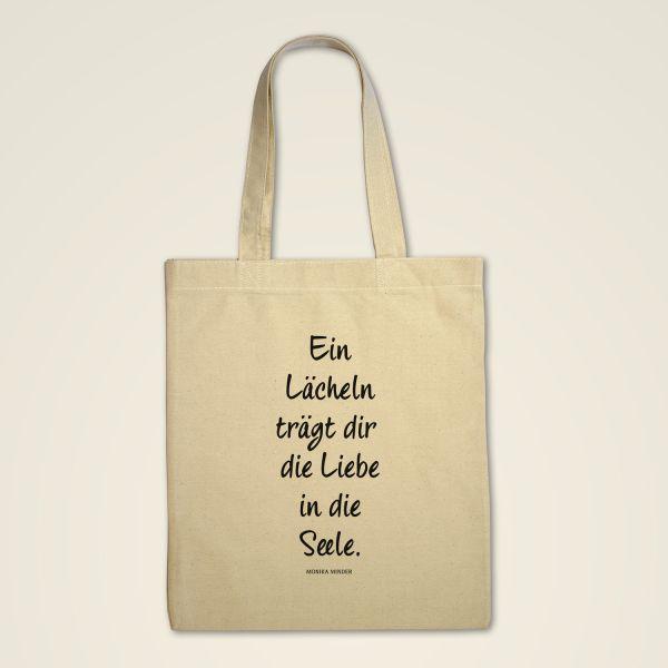 Stofftasche 'Ein Lächeln trägt die Liebe in die Seele'