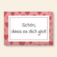 Bedruckte Postkarten Spruch Freundschaft Herzchen Geist und Geschenk