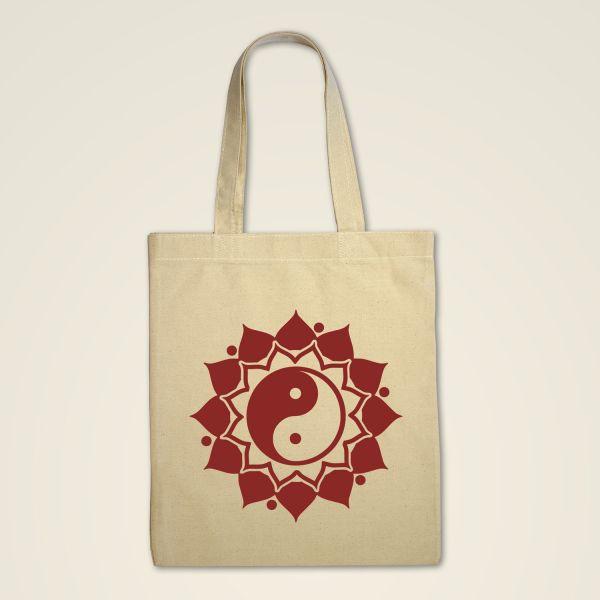 Stofftasche Natur 'Ying & Yang' Mandala