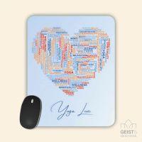 Mousepad bedruckt Yoga Love Geist und Geschenk