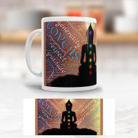 Tasse bedruckt   'Yoga Chakra', Geist und Geschenk, klassische Form