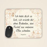 """Mousepad mit Ringelnatz Zitat """"Ich habe dich so lieb"""""""