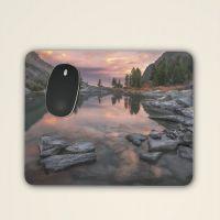 Mousepad 'Berg-und Seenlandschaft im Sonnenuntergang'