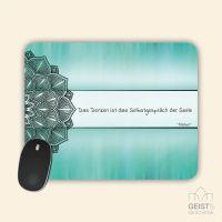 Bedrucktes Mousepad Das Denken ist das Selbstgespräch der Seele Geist und Geschenk eckige Form