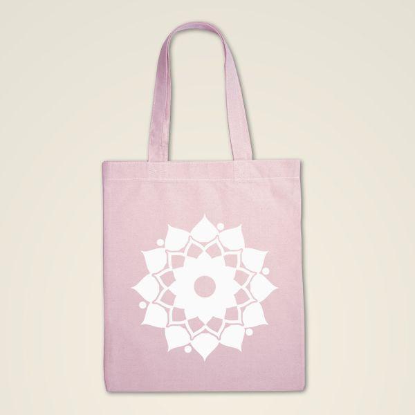 Stofftasche rosa 'Mandalablume'