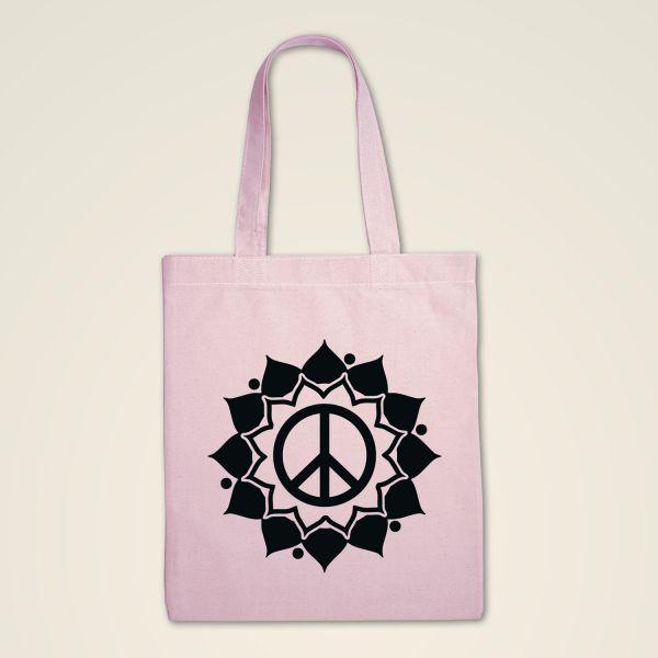 Stofftasche rosa 'Peace Mandala'