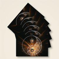 Postkarten Grußkarten Blume des Lebens yin yang Motiv bedruckt Geist und Geschenk