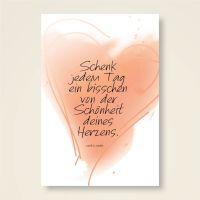 Grusskarten  Set 'Schönheit des Herzens'