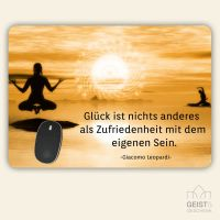 Bedrucktes Mousepad Zitat Giacomo Leopardi Geist und Geschenk eckige Form