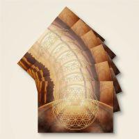 Grußkarten Set Blume des Lebens 'Sternentor'