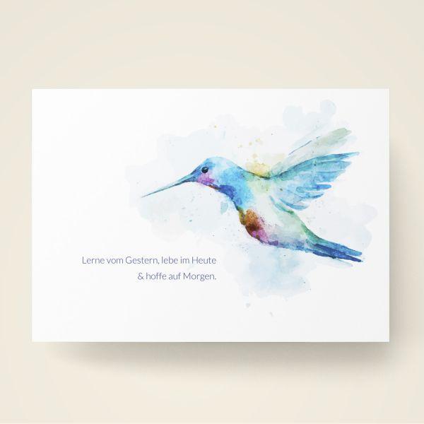 Grusskarten Set Aquarell 'Lerne vom gestern, lebe im Heute und hoffe auf Morgen'
