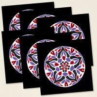 Grusskarten bedruckt kuenstlerecke mandala heil kunst female energy
