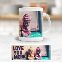 tasse bedruckt aniluap love you more buddhas vs