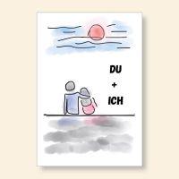 Grußkartenset bedruckt Du + Ich Geist und Geschenk