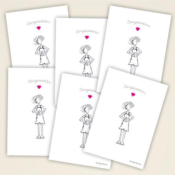 Grusskarten Set Compassion