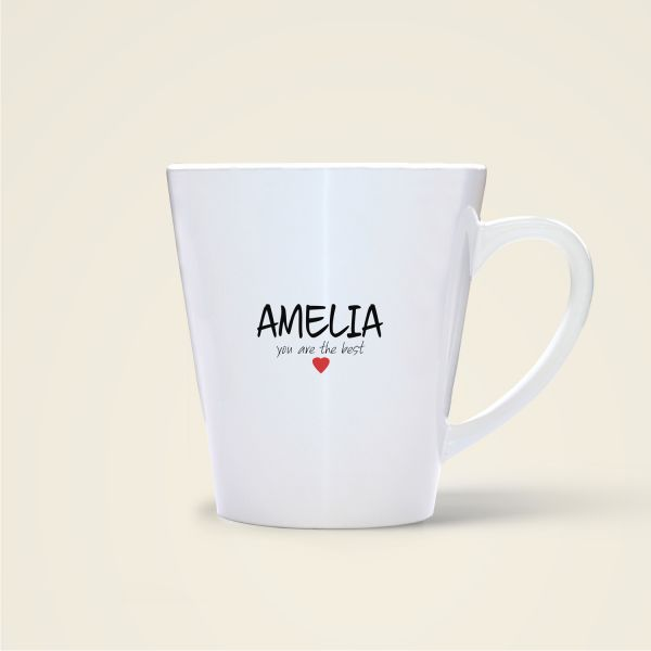 Namenstasse bedruckt Amelia Freundschaftstasse Becher