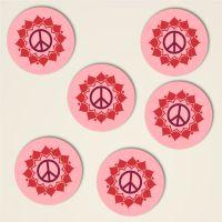 Peace Mandala Anna Dreiblatt Untersetzer Set bedruckt 6
