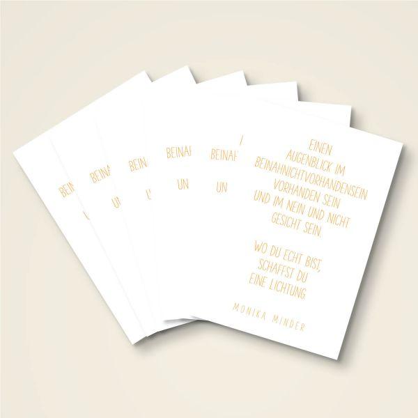 Grusskarten Set 'Beinahnichtvorhandensein'