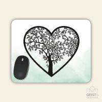 Mousepad eckige Form Lebensbaum Geist und Geschenk