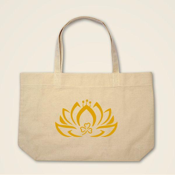 Boatshape Stofftasche Natur Dreiblatt-Lotus'