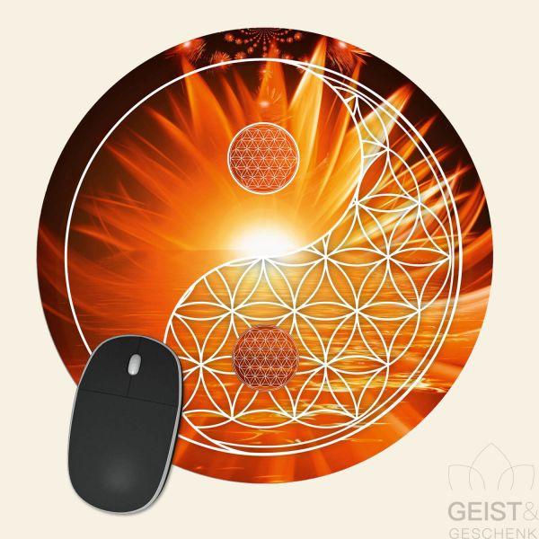 Mousepad-Blume-des-Lebens-Motiv-YinYang-Tag-bedruckt-1