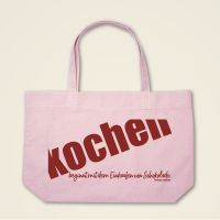 Boatshape Stofftasche 'Kochen beginnt mit dem Einkaufen von Schokolade'