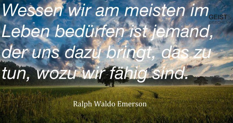 Zitat von Emerson selbst gestalten