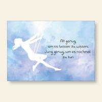 Bedruckte Postkarte Aquarell Spruch Besserwisser Geist und Geschenk