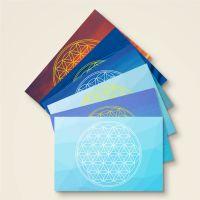 Postkarten Grußkarten Blume des Lebens Flower of Life Joy Geist und Geschenk