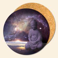 Untersetzer aus Kork Buddha Galaxy Geist und Geschenk
