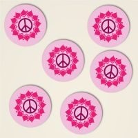 Peace Mandala Anna Dreiblatt Untersetzer Set bedruckt 2