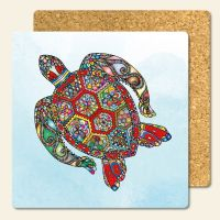 Bedruckte Korkuntersetzer 'Turtle'  Geist und Geschenk eckige Form
