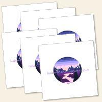 Grußkarten-Set 'listen to the universe spin'