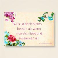 Goethe Grusskarte Postkarte Zitat geist und geschenk