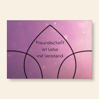 Bedruckte Postkarte Freundschaft Liebe Blume Geist und Geschenk