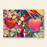 Grußkartenset Drei Herzen Geist und Geschenk