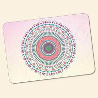 Bedrucktes 6-teiliges Tischset Mandala Candy  Geist und Geschenk